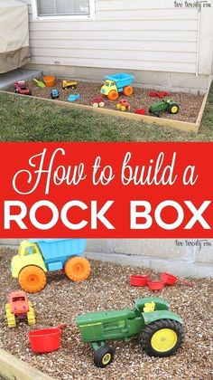 How to build a rock box! Cleaner than a sandbox! How to build a rock box! Cleaner than a sandbox! The post How to build a rock box! Cleaner than a sandbox! appeared first on Crafts. Kids Outdoor Play, Outdoor Play Spaces, Kids Play Area, Backyard For Kids, Diy For Kids, Backyard Play Areas, Backyard Games, Large Backyard, Kids Outdoor Crafts