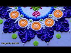 Beautiful rangoli designs l muggulu kolam l घर पर रंगोली डिजाइन l Rango. Rangoli Designs Simple Diwali, Happy Diwali Rangoli, Rangoli Designs Latest, Rangoli Designs Flower, Free Hand Rangoli Design, Rangoli Border Designs, Rangoli Ideas, Rangoli Designs With Dots, Flower Rangoli