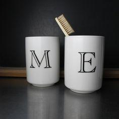 Custom Bathroom Mugs by BROOKLYNrehab on Etsy