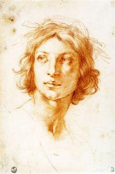 Francesco Furini  1600 - 1646 Portrait of a young man 25,5 x 17,4 cm