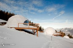 Eco-Resort and Glamping Domes Whitepod Winter Eco-resort Domes