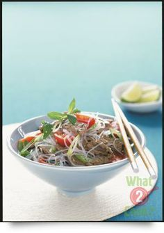 Looking for a delicious and healthy Vietnamese grilled beef and meatball vermicelli salad recipe? Find out all the ingredients, cooking time, techniques and tips on how to perfectly cook your favourite meal from the experts at Australian Beef Asian Recipes, Beef Recipes, Ethnic Recipes, Asian Foods, Vermicelli Salad, Glass Noodle Salad, Australian Beef, Beef Salad, Chili Soup