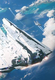 ArtStation - Twin Destroyers, Raphael Lacoste