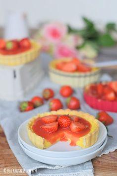 Erdbeer Pudding Tartelette