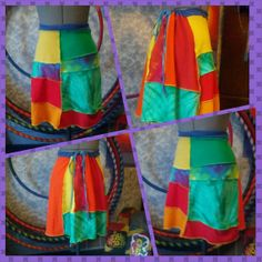 Upcycled Patchwork Bustle mini skirt by LionWear on Etsy, $36.00