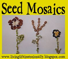 Seed Mosaics as part of Seeds & Plants Unit
