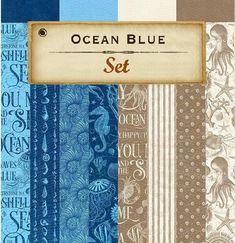 8 Sheets Graphic 45 Ocean Blue 12x12 Patterns & Solids Paper | Etsy Beach Scrapbook Layouts, Scrapbook Paper, Graduation Album, Mixed Media Scrapbooking, Graphic 45, Home Decor Wall Art, Sticker Paper, Handmade Crafts, Craft Projects