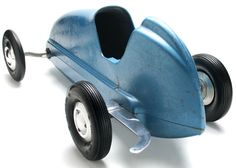 *ANTIQUE PEDAL CAR ~ Dooling Gas Powered 1946 Tether Racer Toy Car Seller Douglas Rosin3