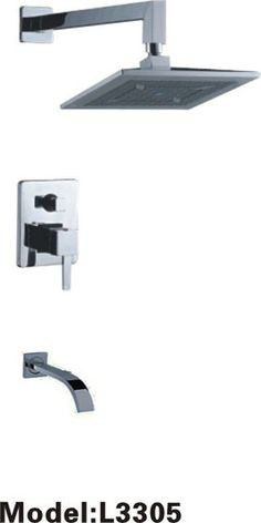 New Wall Mounted Modern Shower Faucet with Tub Filler Chrome Finish 3305 | eBay