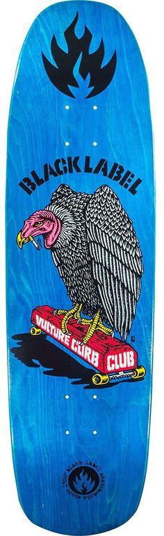 d7bb0f2b12ef31 Black Label Skateboards Vulture Curb Club Skateboard Deck