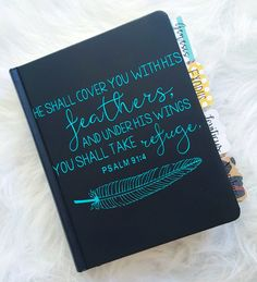 ESV journaling bible bundle! Includes the bible, vinyl decal for the cover, & tabs all put together for you!!  Everything is custom! You tell me your