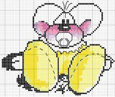 Diddl cross stitch | Schema Punto Croce Diddl Baby