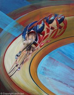 Cycling art by Andy Farr