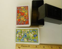 Vintage 1960 KEM Poker Playing Cards, Red Blue Garden Cut Wild Flowers Floral Best Cards in World, Two Complete Decks Used Mint Collectible - pinned by pin4etsy.com