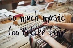 so much too little