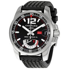 Chopard Mille Miglia Steel Black Rubber Men's Watch 168457-3001 - Mille Miglia - Classic Racing - Chopard - Watches - Jomashop