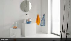 Scarabeo Bucket 30 wiaderko umywalka stawiana na blat dekory de luxe 8801luxury