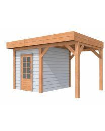 Woodvision Douglasvision buitenverblijf Modulair 400 x 310 grijs Greenhouses, Outdoor Rooms, Sheds, Gazebo, Outdoor Structures, Home Decor, Houses, Green Houses, Shed Houses