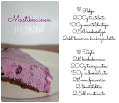 Blueberry cheesecake without gluten.