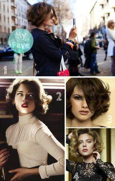 Aqui les dejo otras opciones de cabello rizado... Here are other options for curly hair...  Images via: 1. The Sartorialist 2. Pinterest 3. Pinterest 4. Dolce &  Gabbana The One Saludos, Clau!  -->