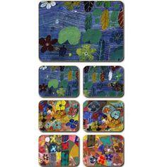 Aboriginal Design Lily Billabong placemats and coasters, set of 6