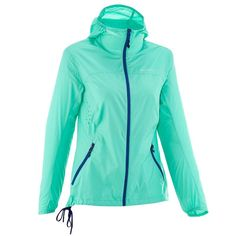 Deportes de Montaña Deportes de Montaña - Cortavientos Helium Wind 500 UV mujer verde QUECHUA - Deportes de Montaña Rain Wear, Sport Wear, Hooded Jacket, Casual, Blazer, Unisex, My Style, Womens Fashion, How To Wear