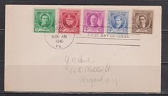 US First day issue cover 5 stamps #883 -10¢ E. Nevin -Composer, #882 5¢ E. M, VF