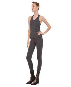 Norma Kamali tank and leggings. #fitness #fashion