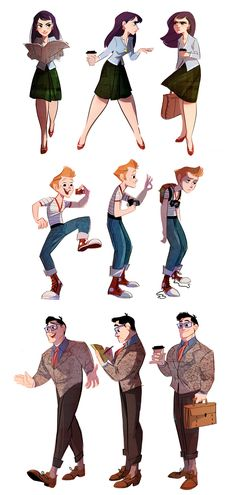 Lois, Jimmy and Clark by *The-Orange-One on deviantART ✤ || CHARACTER DESIGN REFERENCES | キャラクターデザイン | • Find more at https://www.facebook.com/CharacterDesignReferences & http://www.pinterest.com/characterdesigh and learn how to draw: concept art, bandes dessinées, dessin animé, çizgi film #animation #banda #desenhada #toons #manga #BD #historieta #strip #settei #fumetti #anime #cartoni #animati #comics #cartoon from the art of Disney, Pixar, Studio Ghibli and more || ✤