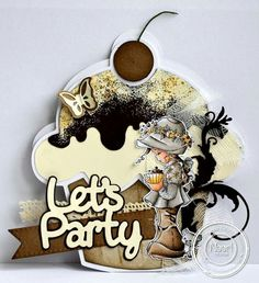 Dutch Doobadoo card art cupcake