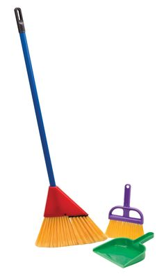 "Amazon.com: Little Helper Broom Set: Toys & Games $9.99 Includes 33"" broom, brush and dust pan. Recommended for ages 3 and up."