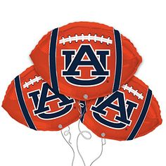 Auburn University Football Shaped 18 Mylar Balloon 3pk -- You can find out more details at the link of the image.Note:It is affiliate link to Amazon.
