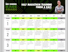 Nike has their own half-marathon fitness training. It's 12 weeks. If you download the Nike Training Club (NTC) iPhone app, you can literally do the workouts that they suggest during the week.