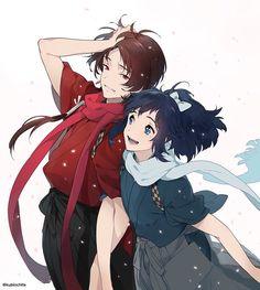 Kashuu Kiyomitsu x Yamatonokami Yasusada Nikkari Aoe, Shounen Ai, Manga Games, Touken Ranbu, Manga Girl, Anime Guys, Haikyuu, Character Art, Anime Art