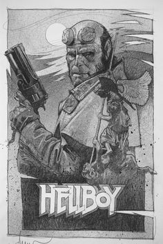 Hellboy comp, Drew Struzan