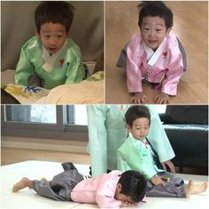 'Superman is Back' twins Suh Uhn and Suh Joon are bringing out their adorable traditional w