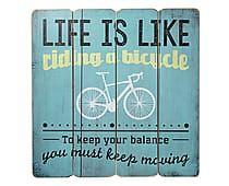 Placa Decorativa Riding A Bike - 40X40cm