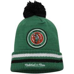 Boston Celtics Mitchell & Ness Hardwood Classics Big Man High Five Cuffed Knit Hat - Kelly Green