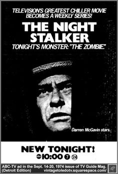 The Zombie was so scary. One of my fav night stalker episodes. The vampire one was creepy as too.
