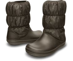 Women's Winter Puff Boot | Women's Boots | Crocs Official Site In Brown or Black