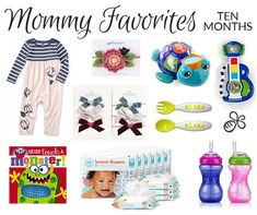 Mommy Favorites | Ten Month Old First Birthday Gifts, First Birthdays, Pretty Neat Living, Vintage Baby Headbands, Honest Diapers, Best Baby Toys, 18 Month Old, Popular Toys, First Baby