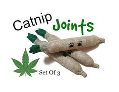 Hey, I found this really awesome Etsy listing at https://www.etsy.com/au/listing/174859253/cat-toys-felt-catnip-joints-set-of-3