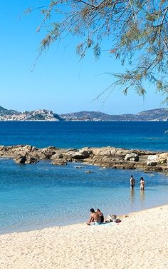 Lumio Beach in Balagne, Corsica, France