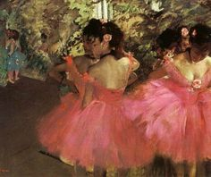 "artist-degas: ""Dancers in Pink via Edgar Degas """