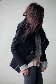 Oversize Collar Wool Coat