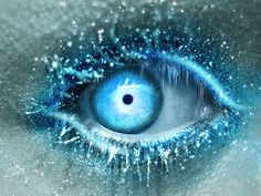LOVE, this is so well done, it's not painted or drawn and I think it's a work of photo shop, but I think it's really pretty and really well done, and I love the concept of sparkly icicles on the eye lids and such XD