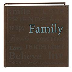 "Pioneer Photo Albums ""Family"" Text Design Sewn Faux Suede Cover Photo Album, Brown: Amazon.ca: Home & Kitchen"