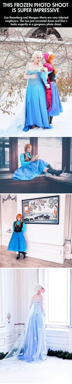 Frozen cosplay…Anna's skirt is too short, but I'm just being knitpicky