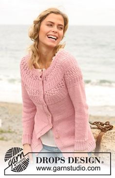 Knitted DROPS cardigan. Size: S - XXXL ~ DROPS Design: