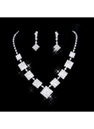 bruids ketting set bruids diamanten halsketting ketting, high-grade